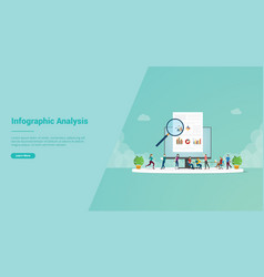 studying or learn infographic analysis team vector image