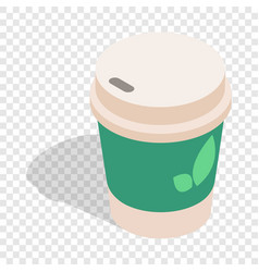 Take out tea cup isometric icon vector