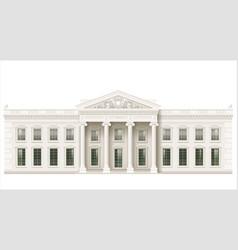 The classic facade of a public building vector