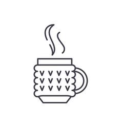 thermo mug line icon concept thermo mug vector image