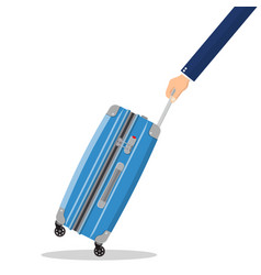 travel bag in hand vector image