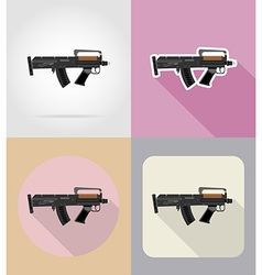 Weapon flat icons 05 vector