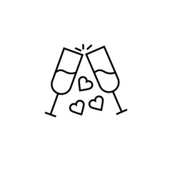 wedding toast icon vector image
