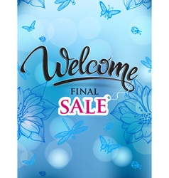 Welcome signs final sale vector image
