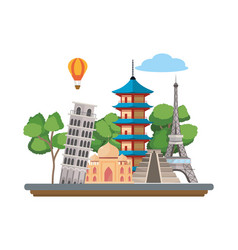world landmarks icon vector image