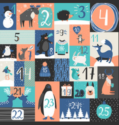 xmas advent calendar vector image
