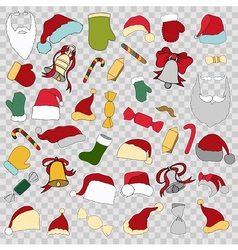 Colorful patch badges of different Merry Christmas vector image vector image