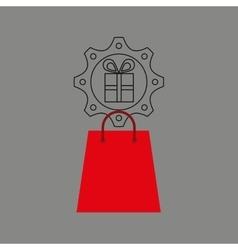 e-commerce business gift money design icon vector image