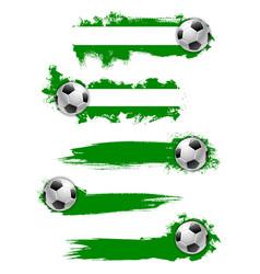 football soccer ball icon or banner vector image