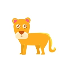 Lioness Toy Exotic Animal Drawing vector image