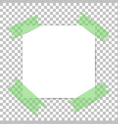 Note papers blank paper with green sticker vector