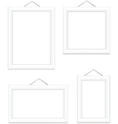 photo frames white vector image