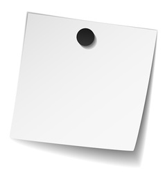 white note paper with magnet vector image vector image