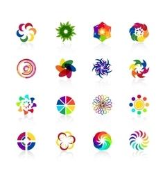 Circular logo shapes vector image vector image