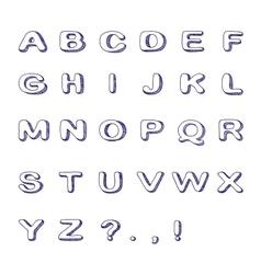 Hand Drawn Font Doodle Alphabet Childish ABC vector image vector image