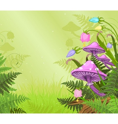 Magic landscape vector image vector image