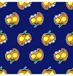 seamless patternr - halloween pumpkins vector image vector image