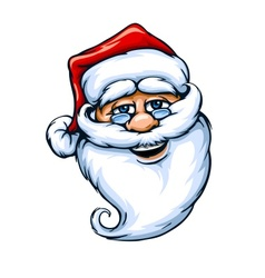 smiling Santa Claus face vector image vector image