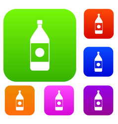water bottle set color collection vector image vector image