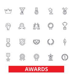 Awards trophy certificate winner ceremony vector