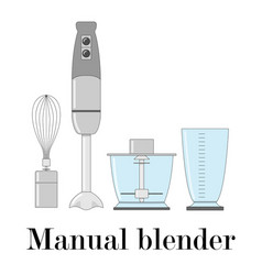 color of the manual blender vector image vector image