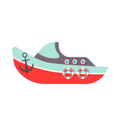 kid toy or children plaything ship boat vector image vector image