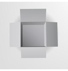 Open box Top view vector image
