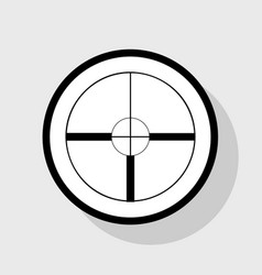 sight sign flat black icon vector image