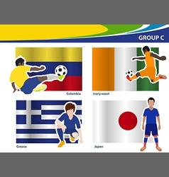 Soccer football players Brazil 2014 group C vector image