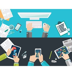 Flat design concepts for business analysis and vector image vector image