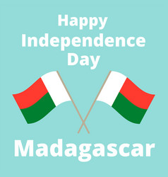 independence day of madagascar vector image