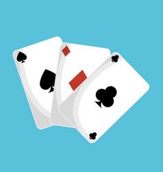 poker cards casino icon vector image vector image