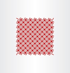 red square dot pattern seamless background vector image vector image