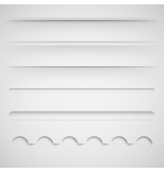 set of dividers for web design vector image