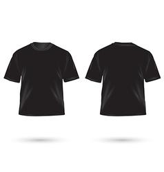 t shirt black vector image