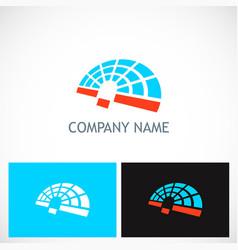 abstract geometry technology radar logo vector image