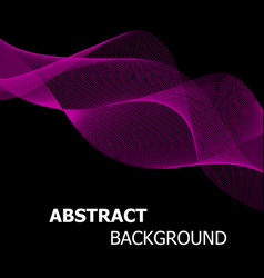 abstract pink line wave background vector image