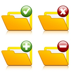 Add delete folder icons vector