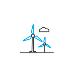 alternative energy sources linear icon concept vector image