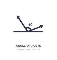 Angle acute icon on white background simple vector