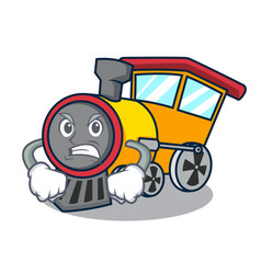 Angry train mascot cartoon style vector