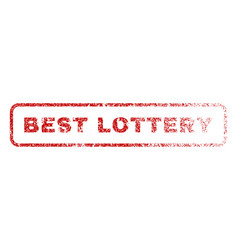 best lottery rubber stamp vector image