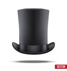 Black big gentleman hat cylinder vector image