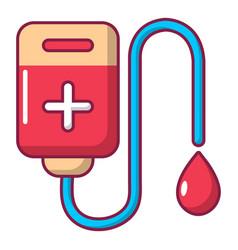 blood bag icon cartoon style vector image