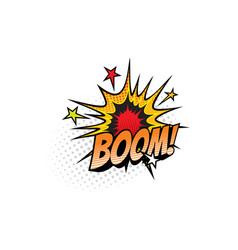 boom explosion comic book sound cloud blast vector image