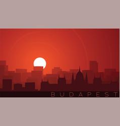Budapest low sun skyline scene vector