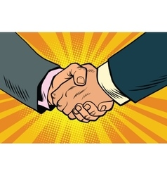 Business handshake partnership and teamwork vector