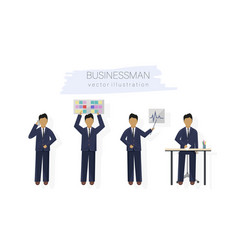 business man character design set woman with vector image