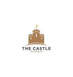 Castle logo design template vector