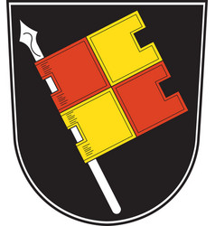 Coat of arms of wurzburg in lower franconia in vector